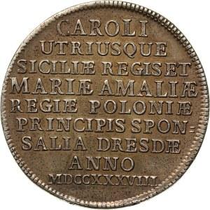 August III, 2/3 talara (gulden) zaślubinowe 1738, Drezno