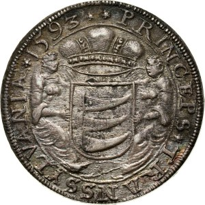 Węgry, Siedmiogród, Zygmunt Batory, talar 1593, Nagybanya