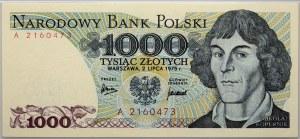 PRL, 1000 złotych 2.07.1975, seria A