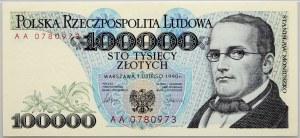 III RP, 100000 złotych 1.02.1990, seria AA