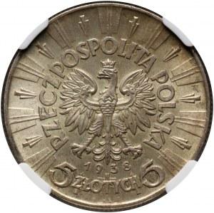 II RP, 5 złotych 1938, Warszawa, Józef Piłsudski