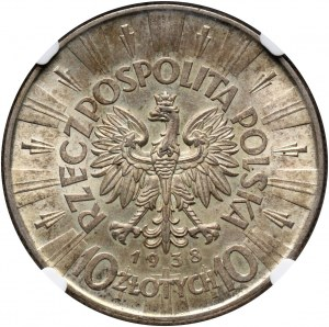 II RP, 10 złotych 1938, Warszawa, Józef Piłsudski