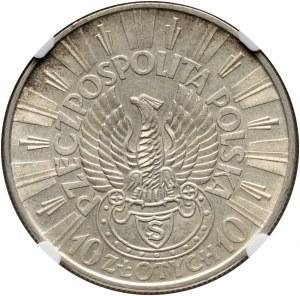 II RP, 10 złotych 1934 S, Warszawa, Józef Piłsudski - Orzeł strzelecki