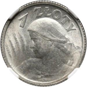 II RP, 1 złoty 1924, Paryż, Żniwiarka