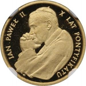 PRL, 1000 złotych 1988, Jan Paweł II, 10-lecie pontyfikatu