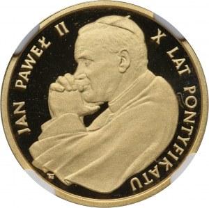 PRL, 2000 złotych 1988, Jan Paweł II, 10-lecie pontyfikatu