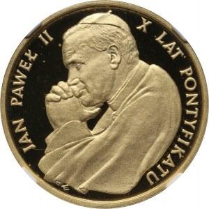 PRL, 5000 złotych 1988, Jan Paweł II, 10-lecie pontyfikatu