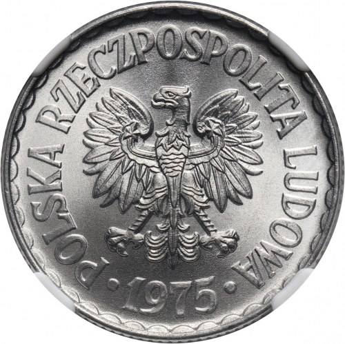 PRL, 1 złoty 1975, bez znaku mennicy