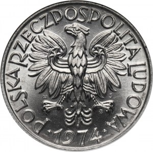 PRL, 5 złotych 1974, Rybak