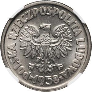 PRL, 5 złotych 1958, Waryński, PRÓBA, nikiel