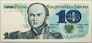 PRL, 10 złotych 1.06.1982, seria R