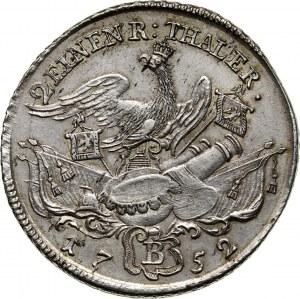 Niemcy, Brandenburgia-Prusy, Fryderyk II, 1/2 talara 1752 B, Wrocław