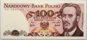 PRL, 100 złotych 17.05.1976, seria AN