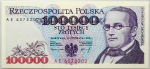 III RP, 100000 złotych 16.11.1993, seria AE