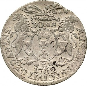 August III, 30 groszy (złotówka) 1762, Gdańsk