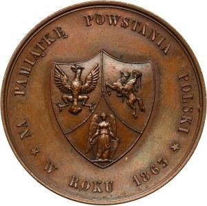 XIX wiek, medal z 1863 roku, Powstanie Styczniowe