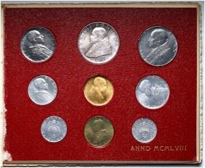 Watykan, Pius XII, zestaw monet z 1958 roku