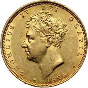 Great Britain, George IV, Sovereign 1826, London