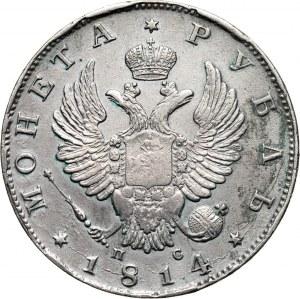 Rosja, Aleksander I, rubel 1814 СПБ ПС, Petersburg