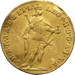 Hungary, Leopold II, Ducat 1792, Kremnitz