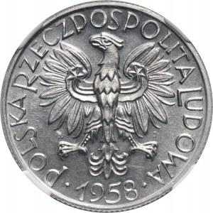 PRL, 5 złotych 1958, Rybak, BAŁWANEK