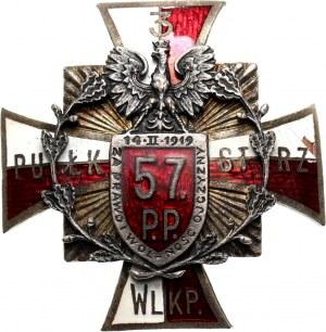 II RP, odznaka, 57 Pułk Piechoty - Poznań (pierwotnie 3 Pułk Strzelców Wielkopolskich