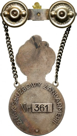 PSZ na Zachodzie, odznaka, Znak Służbowy Żandarmerii