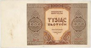 PRL, 1000 złotych 1945, seria A