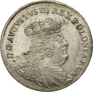 August III, dwuzłotówka (8 groszy) 1753 EC, Lipsk