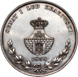XIX wiek, Wolne Miasto Kraków, medal z 1838 roku, Florian Straszewski