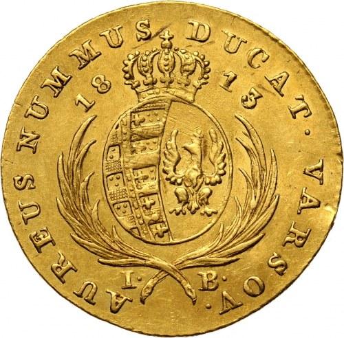 Księstwo Warszawskie, Fryderyk August I, dukat 1813 IB, Warszawa