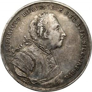 Śląsk, Wrocław, medal z 1741 roku, Hołd złożony Fryderykowi II przez Stany Śląskie we Wrocławiu 7 listopada 1741 roku