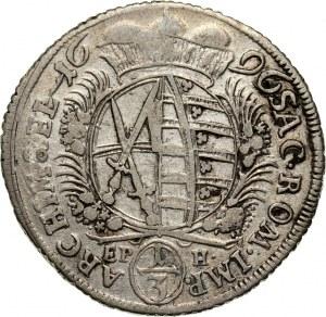 Germany, Saxony, Friedrich August I, 1/3 Thaler 1696 EPH, Leipzig
