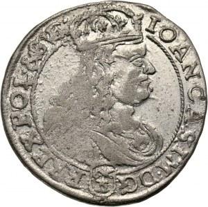 Jan II Kazimierz, szóstak 1667 TLB, Bydgoszcz, błąd w legendzie awersu: RREX zamiast REX
