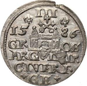 Stefan Batory, trojak 1586, Ryga