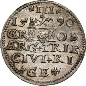 Zygmunt III Waza, trojak 1590, Ryga