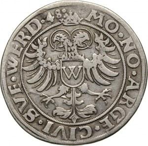 Germany, Donauwörth, Karl V, 1/2 Thaler 1548