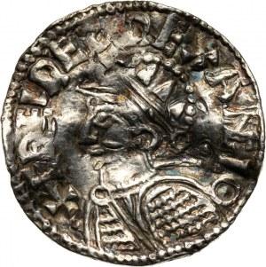 Anglia, Aethelred II 978-1016, denar, Londyn, Helmet