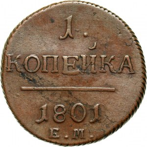 Russia, Paul I, Kopeck 1801 EM, Ekaterinburg
