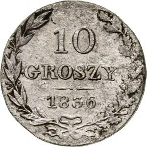Zabór rosyjski, Mikołaj I, 10 groszy 1836 MW, Warszawa