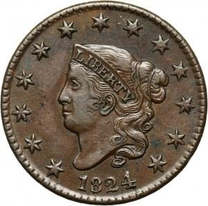 USA, Cent 1824, Philadelphia, Liberty Head
