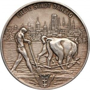 Wolne Miasto Gdańsk, medal, 32 lata pracy w rolnictwie