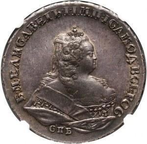 Rosja, Elżbieta I, rubel 1742 СПБ, Petersburg
