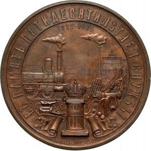Rosja, Aleksander II, medal z 1872 roku, generał C.V. Chevkin, 50 lat służby