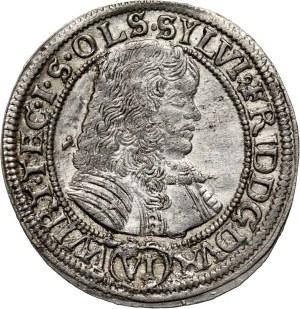 Śląsk, Księstwo oleśnickie, Sylwiusz Fryderyk, 6 krajcarów 1674 SP, Oleśnica
