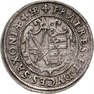 Niemcy, Saksonia, Krystian II, Jan Jerzy I i August, 1/4 talara 1594 HB, Drezno