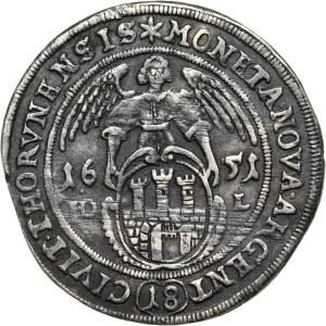 Jan II Kazimierz, ort 1651 HD-L, Toruń