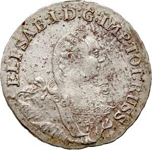 Rosja, Elżbieta I, monety bite dla Prus, 1/3 talara 1761, Królewiec
