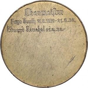 Wolne Miasto Gdańsk, medal Cechu Fryzjerów z 1937 roku