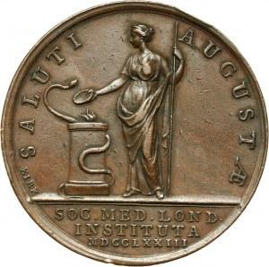 Wielka Brytania, Londyńskie Stowarzyszenie Medyczne, medal z 1773 roku